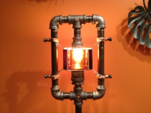 Steampunk floor lamp (c) 2013 Eric Holstine (with permission)