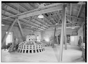 Potomac Power Plant 1925 GE Generator (front) 1910 generator (back)