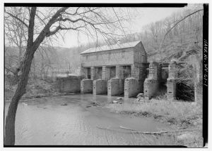 Potomac Power Plant turbine flumes