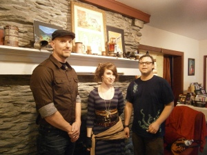 (l-r) Eric Holstine, Leigh Anne Cassell and Jason Edwards