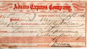 Adams Express August 29 1864